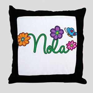 Nola Flowers Throw Pillow