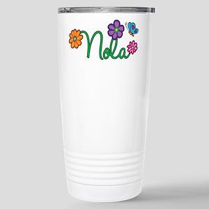 Nola Flowers Stainless Steel Travel Mug