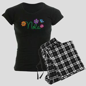 Nola Flowers Women's Dark Pajamas