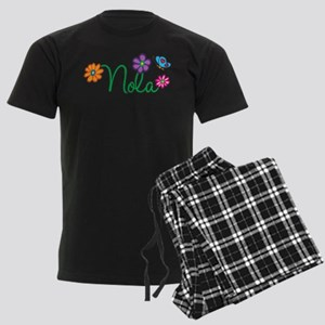 Nola Flowers Men's Dark Pajamas