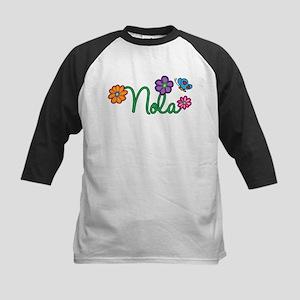 Nola Flowers Kids Baseball Jersey