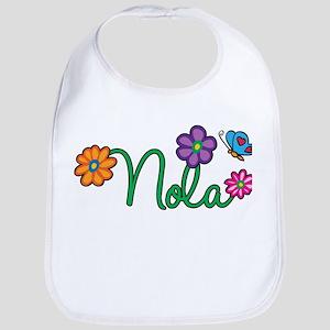 Nola Flowers Bib