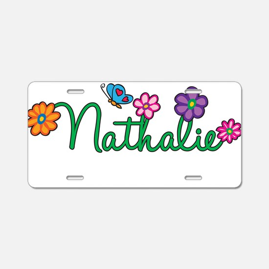 Nathalie Flowers Aluminum License Plate