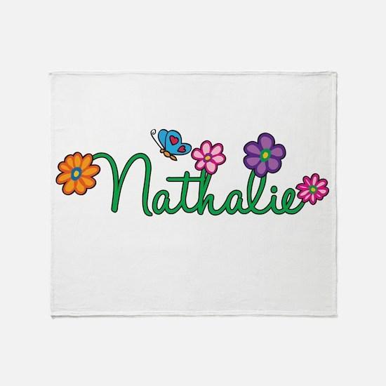 Nathalie Flowers Throw Blanket