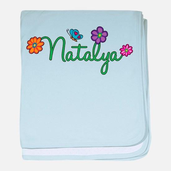 Natalya Flowers baby blanket