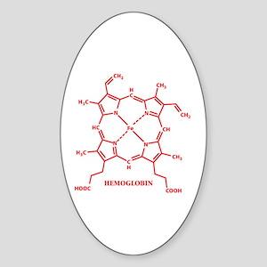 Hemoglobin Molecule Oval Sticker
