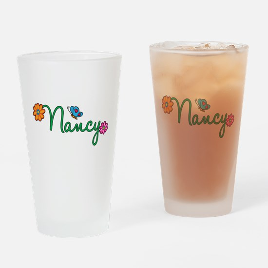 Nancy Flowers Drinking Glass