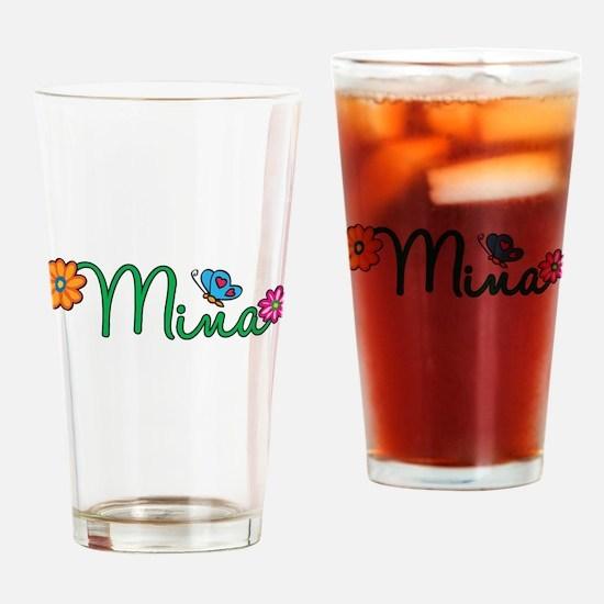 Mina Flowers Drinking Glass