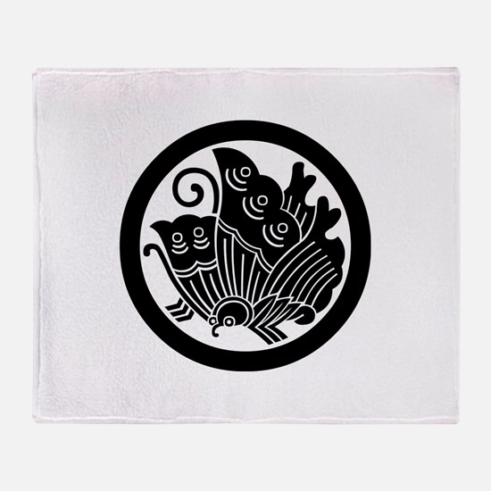 Ageha butterfly in circle Throw Blanket