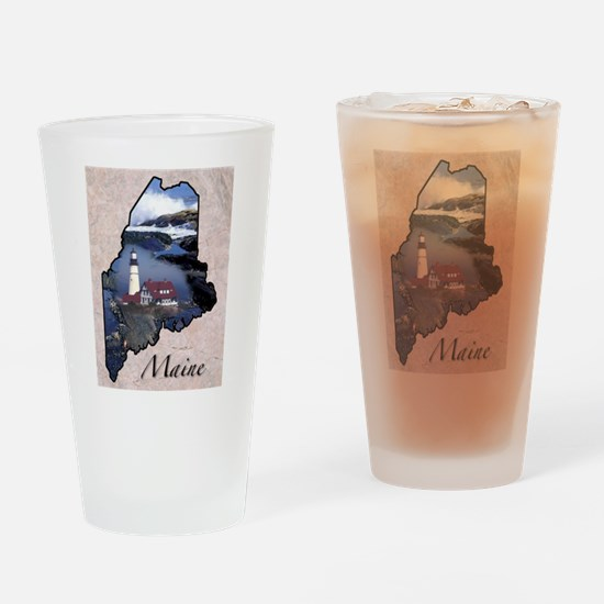 Cute Maine coon Drinking Glass