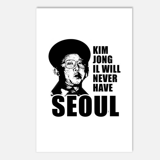 Kim Jong Il has no Seoul -  Postcards (Package of