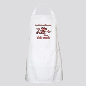 I love my God mother this much Apron