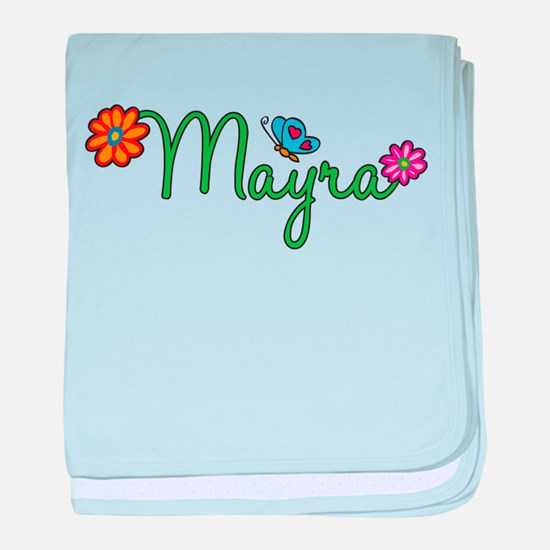 Mayra Flowers baby blanket