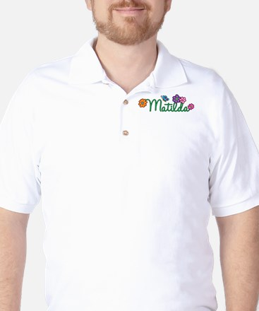 Matilda Flowers Golf Shirt