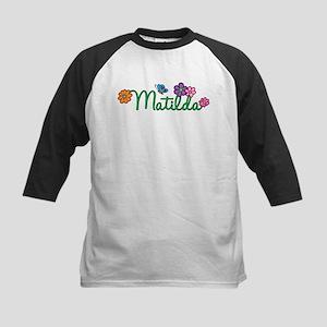 Matilda Flowers Kids Baseball Jersey