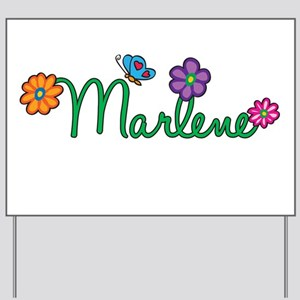 Marlene Flowers Yard Sign