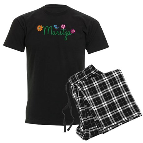 Maritza Flowers Men's Dark Pajamas