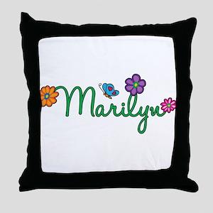 Marilyn Flowers Throw Pillow