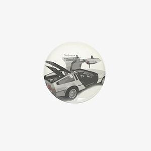 Delorean Mini Button