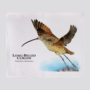 Long-Billed Curlew Throw Blanket