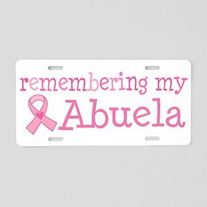 Breast Cancer Abeula Aluminum License Plate