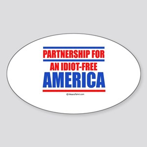 Partnership for an idiot-free America - Sticker (