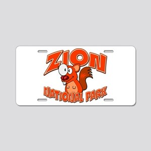 Zion National Park Squirrel Aluminum License Plate
