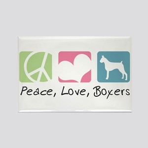 Peace, Love, Boxers Rectangle Magnet