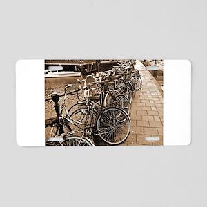 Bike Parking -- Amsterdam in Aluminum License Plat