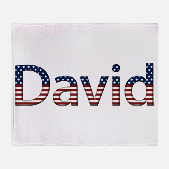 David Stars and Stripes Throw Blanket
