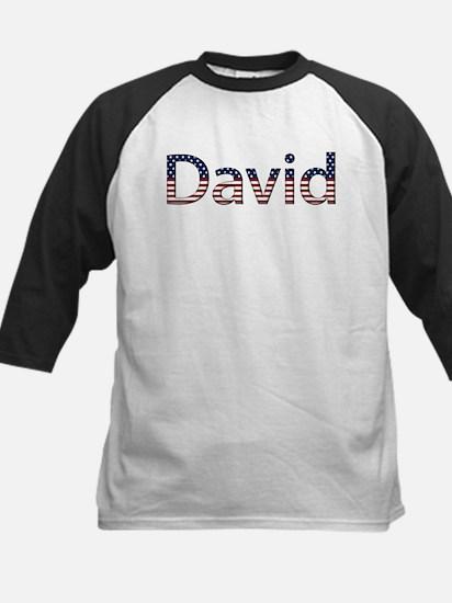 David Stars and Stripes Kids Baseball Jersey