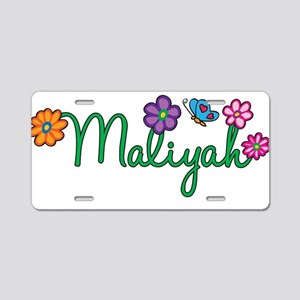 Maliyah Flowers Aluminum License Plate