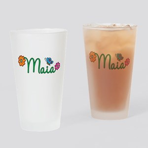 Maia Flowers Drinking Glass