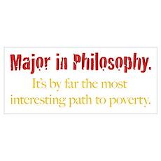 Major in Philosophy Poster