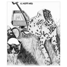 Dalmation and Kitten Poster