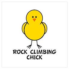 Rock Climbing Chick Poster