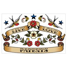 Live Love Patents Poster