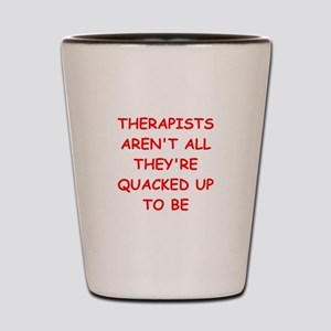 psychology joke Shot Glass