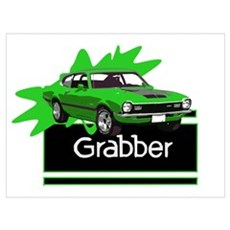 Grabber Green Maverick Framed Print