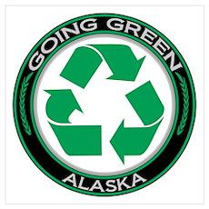 Going Green Alaska (Recycle) Poster