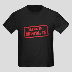 MADE IIN BRISTOL, TN Kids Dark T-Shirt