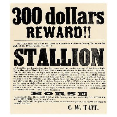 Reward Horse Thief Poster