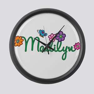 Madilyn Flowers Large Wall Clock