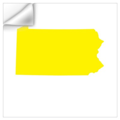 Yellow Pennsylvania Wall Decal