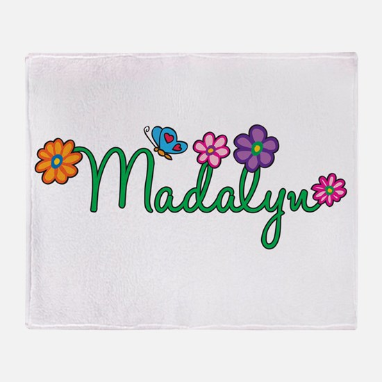 Madalyn Flowers Throw Blanket