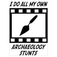 Archaeology Stunts Poster