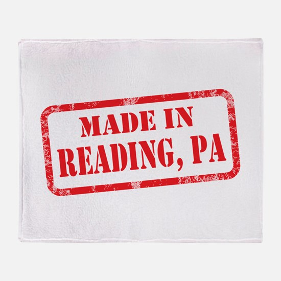 MADE IN READING, PA Throw Blanket
