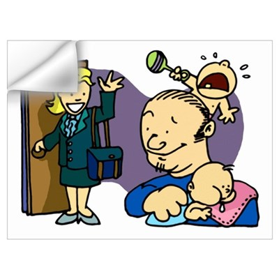 Mr. Mom Wall Decal