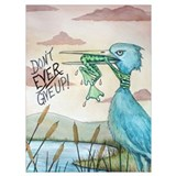Never give up frog Wrapped Canvas Art