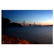 San Francisco Bay Bridge at Twilight Poster